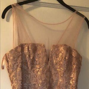 Brand new bcbg blush dress